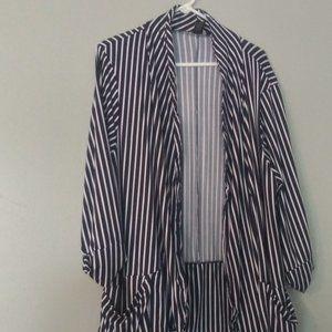 Blue and White Stripe Jacket